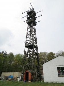 WebSDR Mast + Equipment Shed